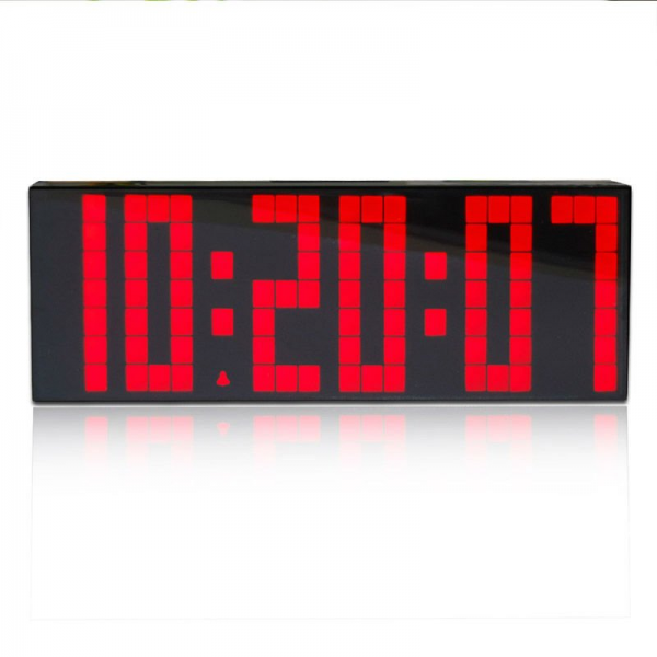Red LED Countdown Timer,Modern Wall Clock,Large Display Digital Clock ...