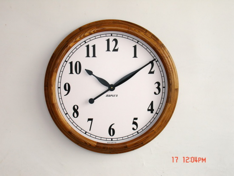 Extra Large Solid Oak Office Wall Clock