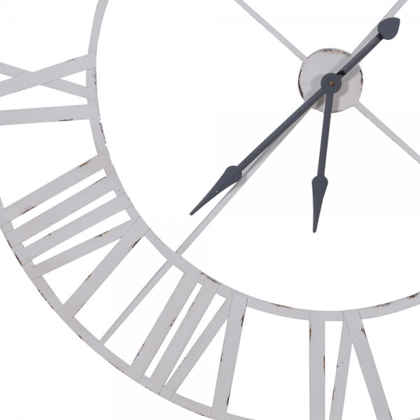 Home › Home Accessories › Clocks › Large White Metal Wall Clock