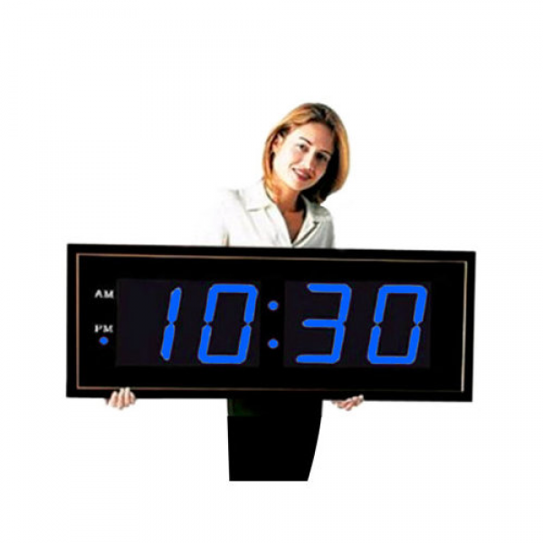 Big Time Clocks Giant 8'' Numbers LED Wall Clock with Remote Control ...