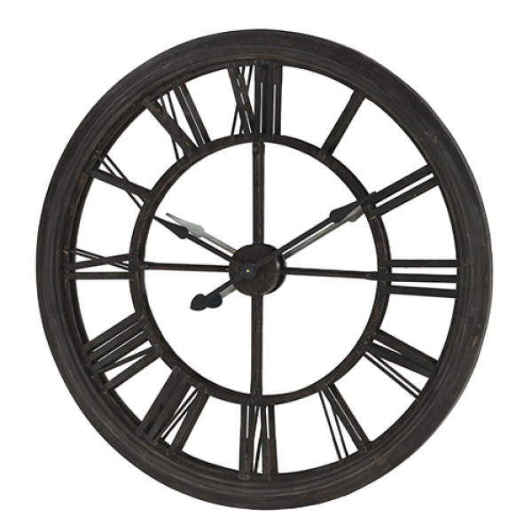 large mirrored black wall clock description a stunning large mirrored ...