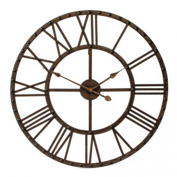 Large metal roman numeral wall clocks large wall clocks Oversized metal wall clocks