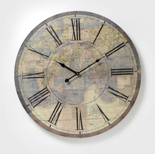 large antique atlas wall clock by the alphabet gift shop ...