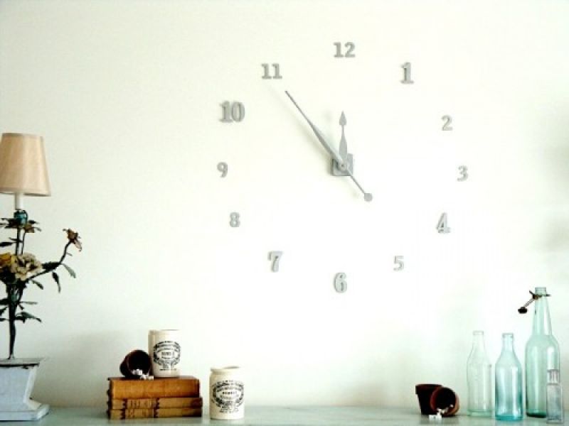 ... decorate some of your walls with a large clock and don t want to spend