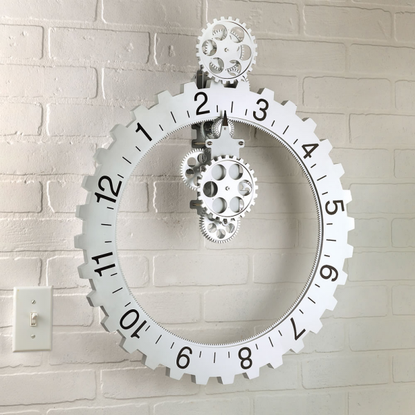 Kikkerland Big Wheel Revolving Gear Wall Clock - The Green Head
