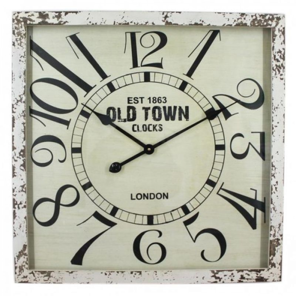 Large Square Industrial Old Town Clocks Wall Clock | Buy Industrial ...