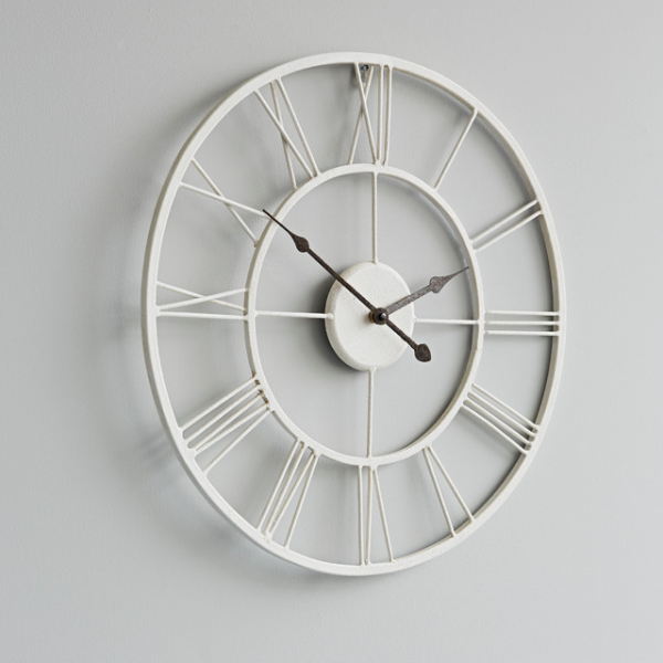 white metal wall clock - Rustic - Wall Clocks - london - by rigby ...