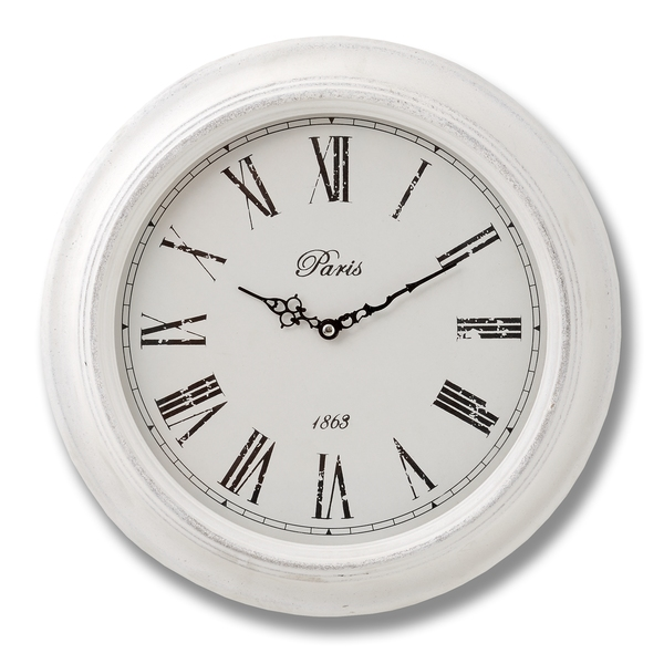 Large Paris Wall Clock With Roman Numerals