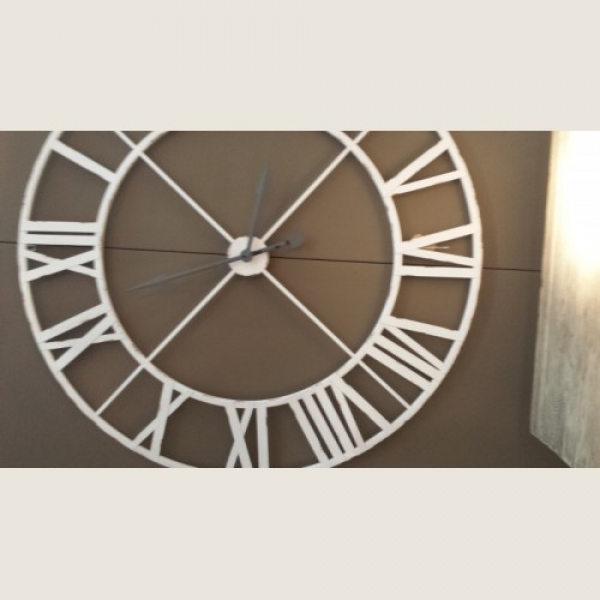 Product Code: Extra Large Distressed White Roman Numeral Clock