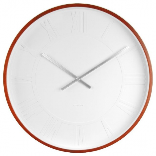 ... White Roman Numeral Wall Clock, Extra Large - Modern - Wall Clocks
