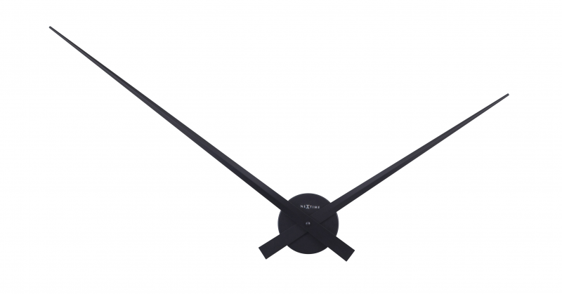 NEXTIME HANDS WALL CLOCK SILVER