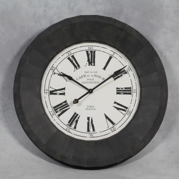 Extra large Black and White Cafe De La Tour Wall Clock - Funky ...