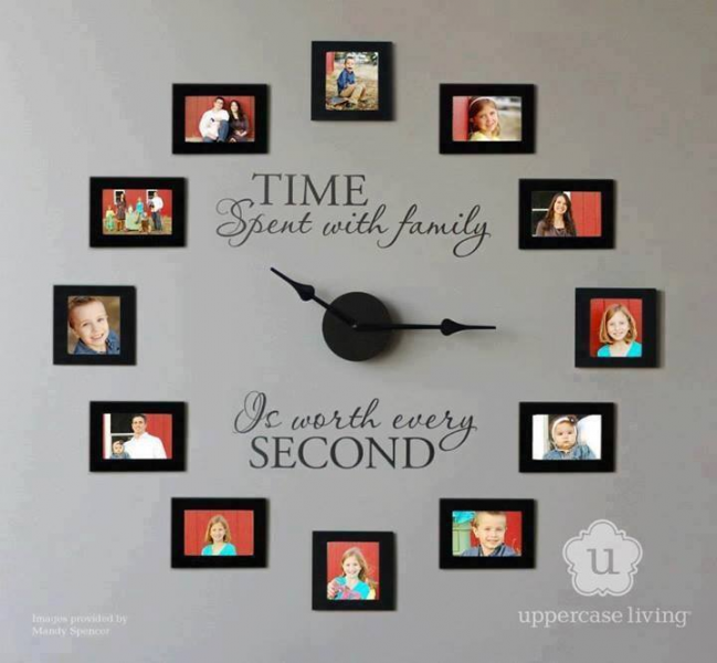 Family Photo Wall Clock | DIY Cozy Home