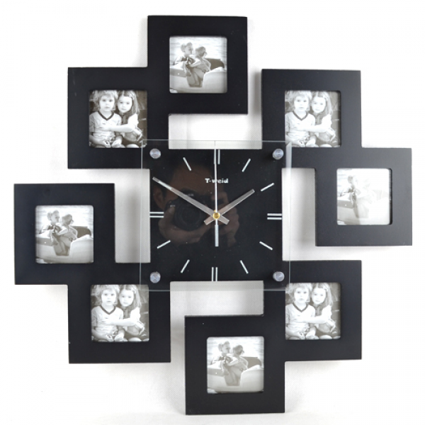 .com : Buy Fashion Art Wall Clocks Mute Rustic Photo Frame Clock ...