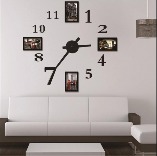 Buy Photo frame wall clock Modern design,large digital decorative wall ...