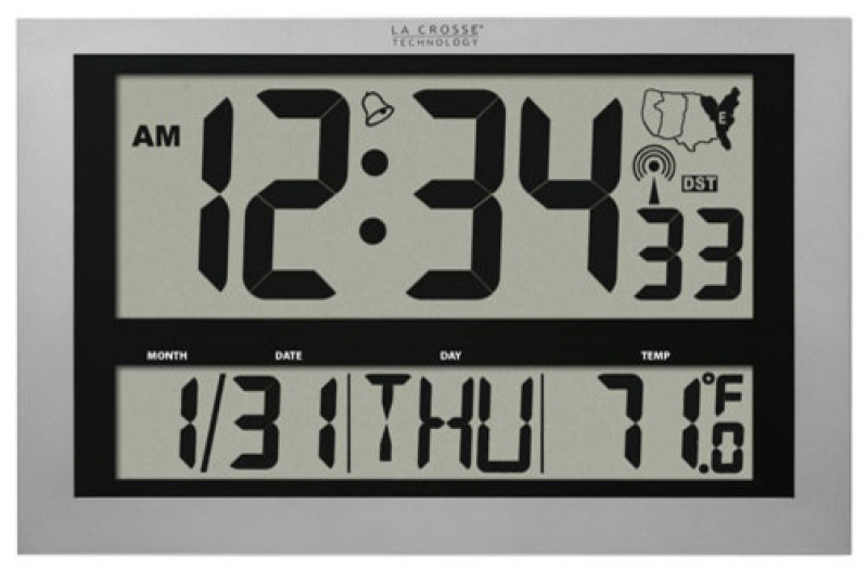 Large Atomic Digital Wall Clock - Modern - Clocks - by Bellacor