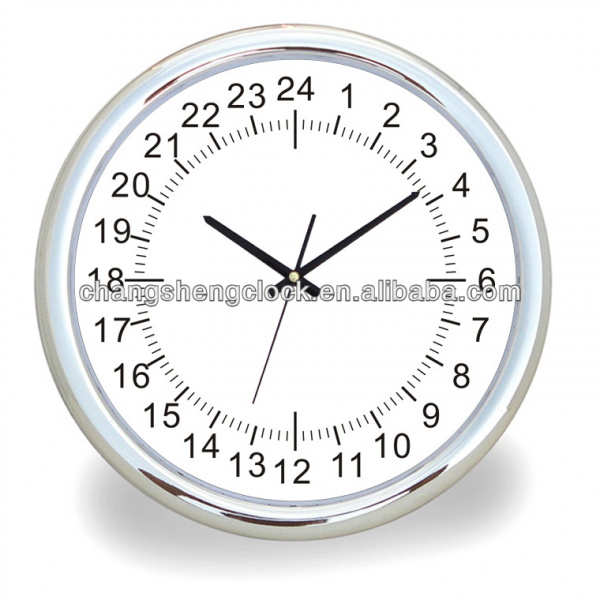 large wall clock 24 hour clock client design