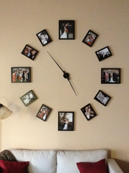 ... to help you with your own wall clock, or take the pictures to fill it