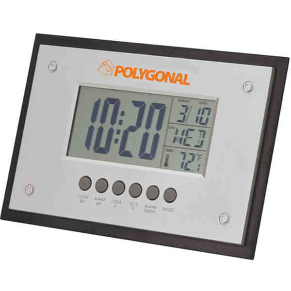 Promotional Jumbo Desk/wall Clock With Large Lcd Screen