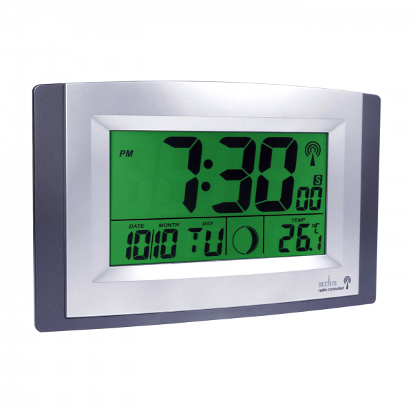 ... & Home // Clocks // Acctim Stratus Smartlite LCD Wall Clock 74057SL