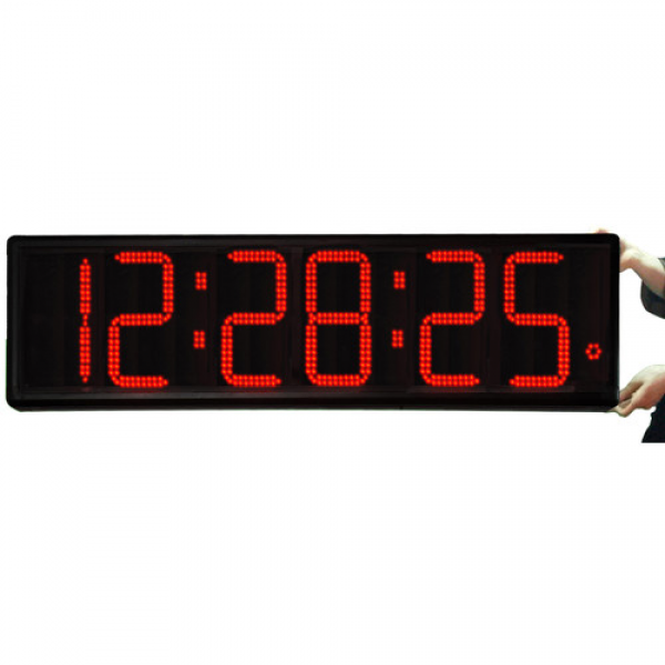 Big Time Clocks Long Distance 9 Digit LED with Remote Control Clock ...