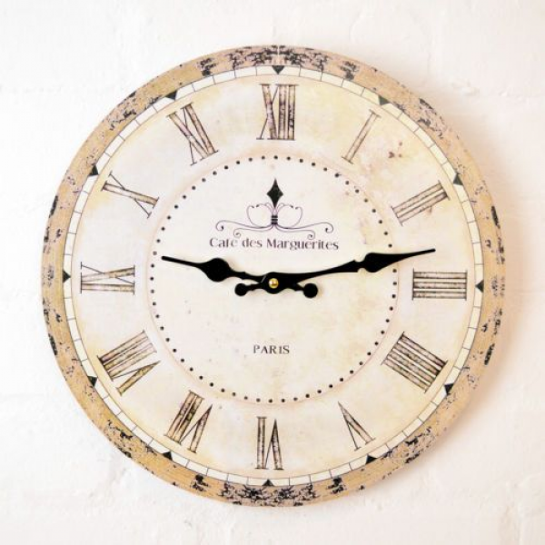Large-FRENCH-CAFE-Wooden-WALL-CLOCK-Vintage-Style-Antique-Shabby-Chic ...