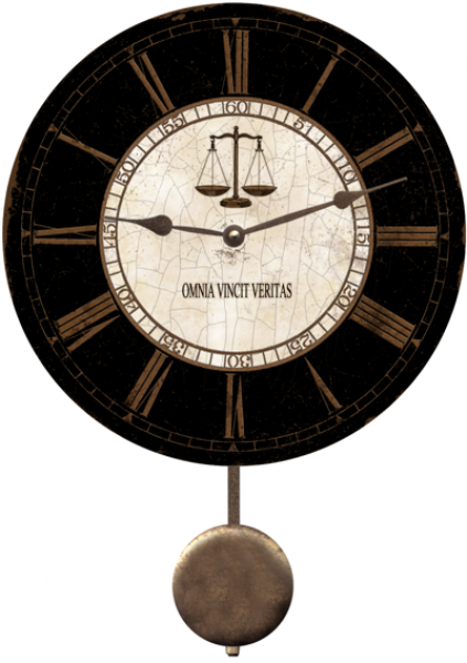 Law Clock- Omnia Vincit Veritas Law Clock