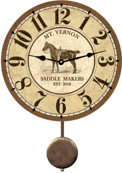 Personalized Horse Clock- Horse Clock Customized