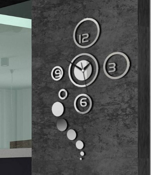 Home Decorative wall clock modern design large mirrors Gift living ...