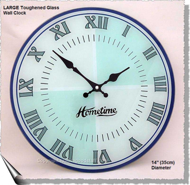 Details about SALE! LARGE Toughened Glass EASY-TO-READ Wall Clock