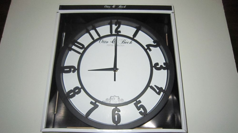 Otto Beck Large 12 Wall Clock Battery Operated Easy to Read Home ...