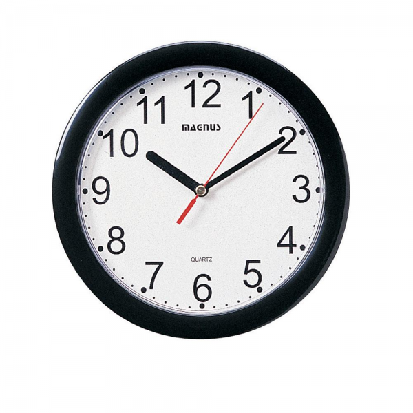 Dainolite Round Black Wall Clock by OJ Commerce $23.04 - $23.05