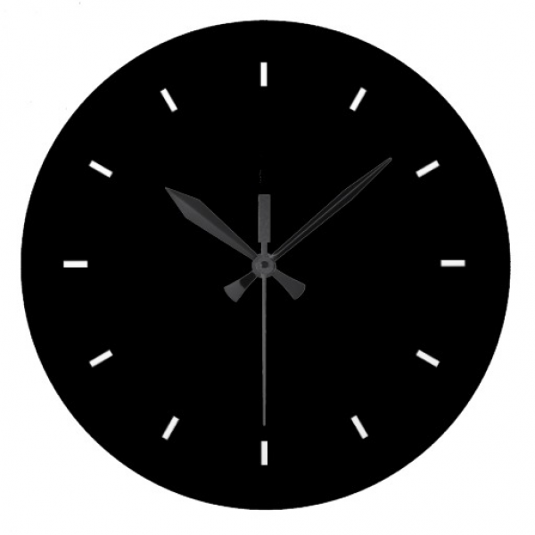 Large Black Wall Clock (Round) | Zazzle