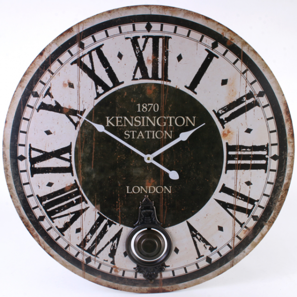 Details about Extra Large Kensington Station Wooden Wall Clock Kitchen ...