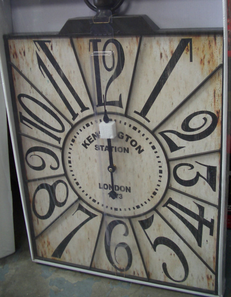 WALL CLOCK- KENSINGTON STATION-LARGE-SHABBY CHIC-DISTRESSED-NEW.BOXED ...