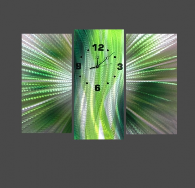 ... Wall Clocks » Metal Colour Wall Clocks » Large Green Wall Clock