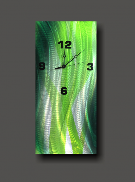 » Wall Clocks » Metal Colour Wall Clocks » Green Wall Metal Clock ...
