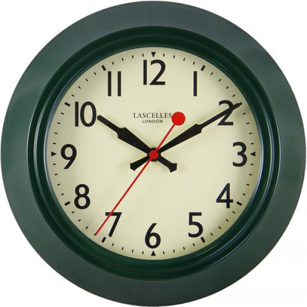 Roger Lascelles Clocks Metal Wall Clock with Lascelles Dial