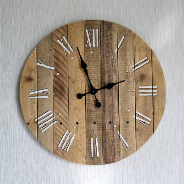 Rustic Wall Clock, Large Wall Clock, Weathered Wood Clock, Home Decor ...