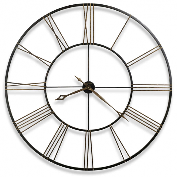 Howard Miller Large wrought-iron Aged Black wall clock 625406 Postema