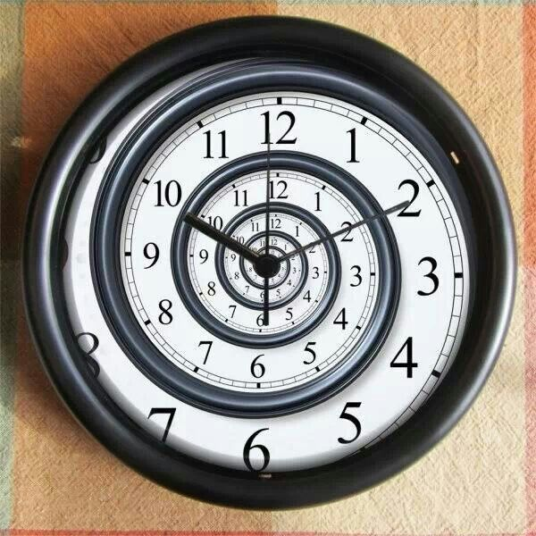 Spiral clock | Fragyl Mari decorates & simple life ideas, decorating ...