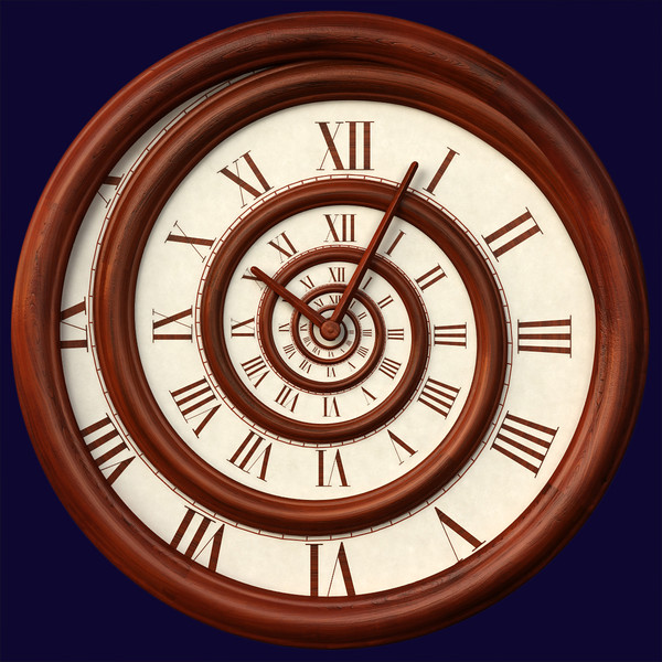 hypnotic spiral wall clock 3d model - Spiral Clock 1... by Hystoria