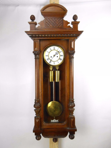 ... Marked Gustav Becker Double Weight Vienna Regulator Wall Clock | eBay
