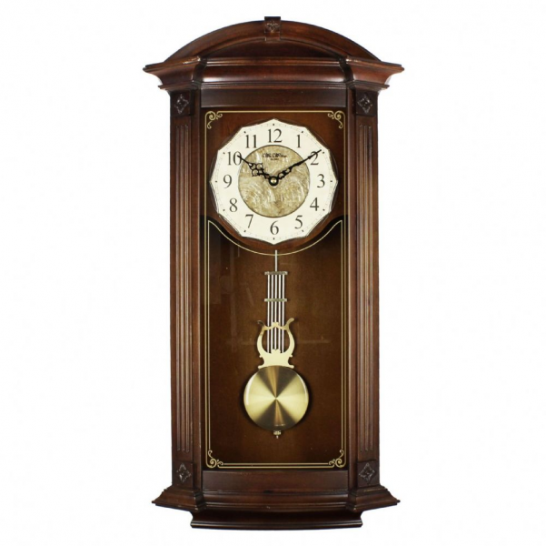large-deluxe-arched-top-traditional-regulator-wall-clock-westminster ...