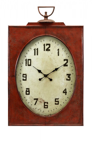 Buy IMAX Worldwide Carnen Oversized Red Wall Clock in Red, White ...