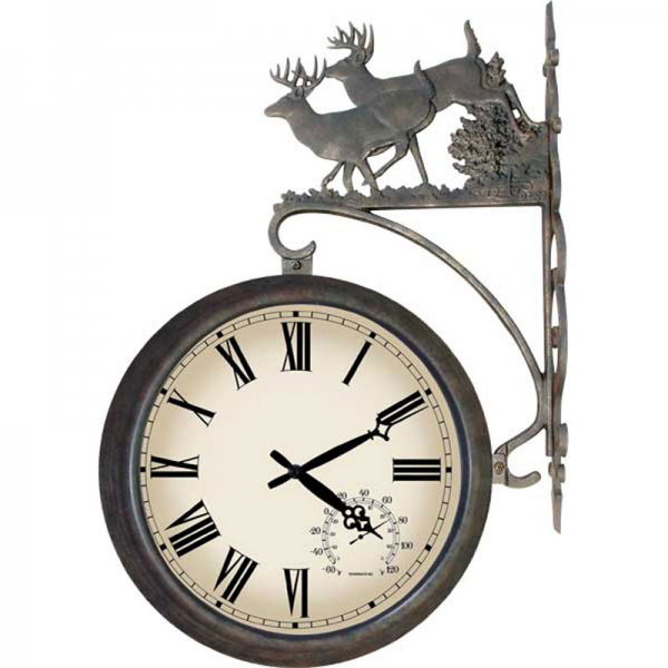 Deer 2 Sided Outdoor Clock