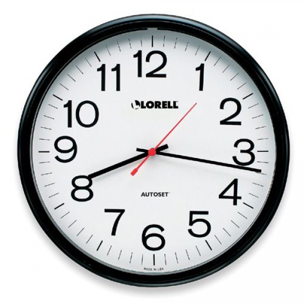 Radio Controlled Wall Clock Lorell 60994 LLR60994 Clocks