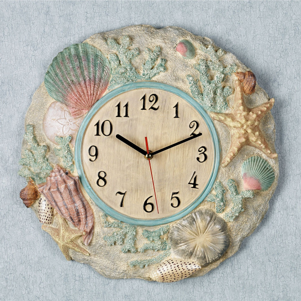 Mermaid theme largest collection of Beach Themed Large Wall Clocks