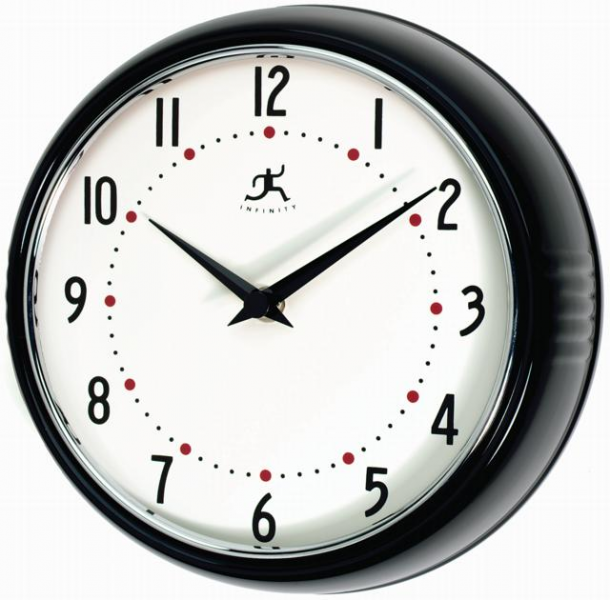 Lighted dial, retro, and atomic quartz wall clocks at The Clock Shoppe ...