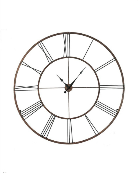 ... wall clock iron extra large dynasty gold open roman numeral wall clock